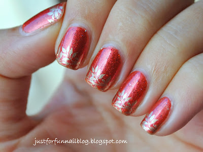 Sublime - Desire with golden leaves from W119 stamping plate