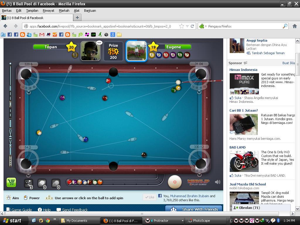 game facebook billiard yg ini cz menurut topan bayu irawan ini adalah