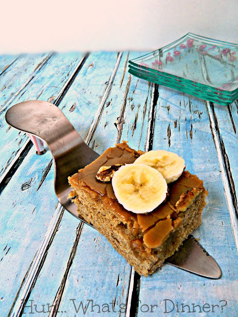 Caramel Fudge Banana Cake