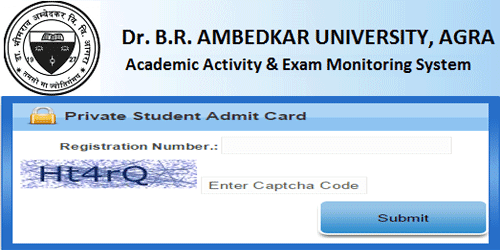 Agra University Admit Card 2017