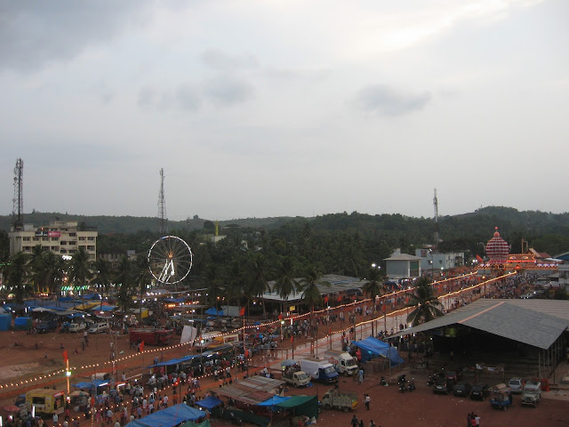 Bird's View of Puttur Mahalingeshwara Temple Festival Ground