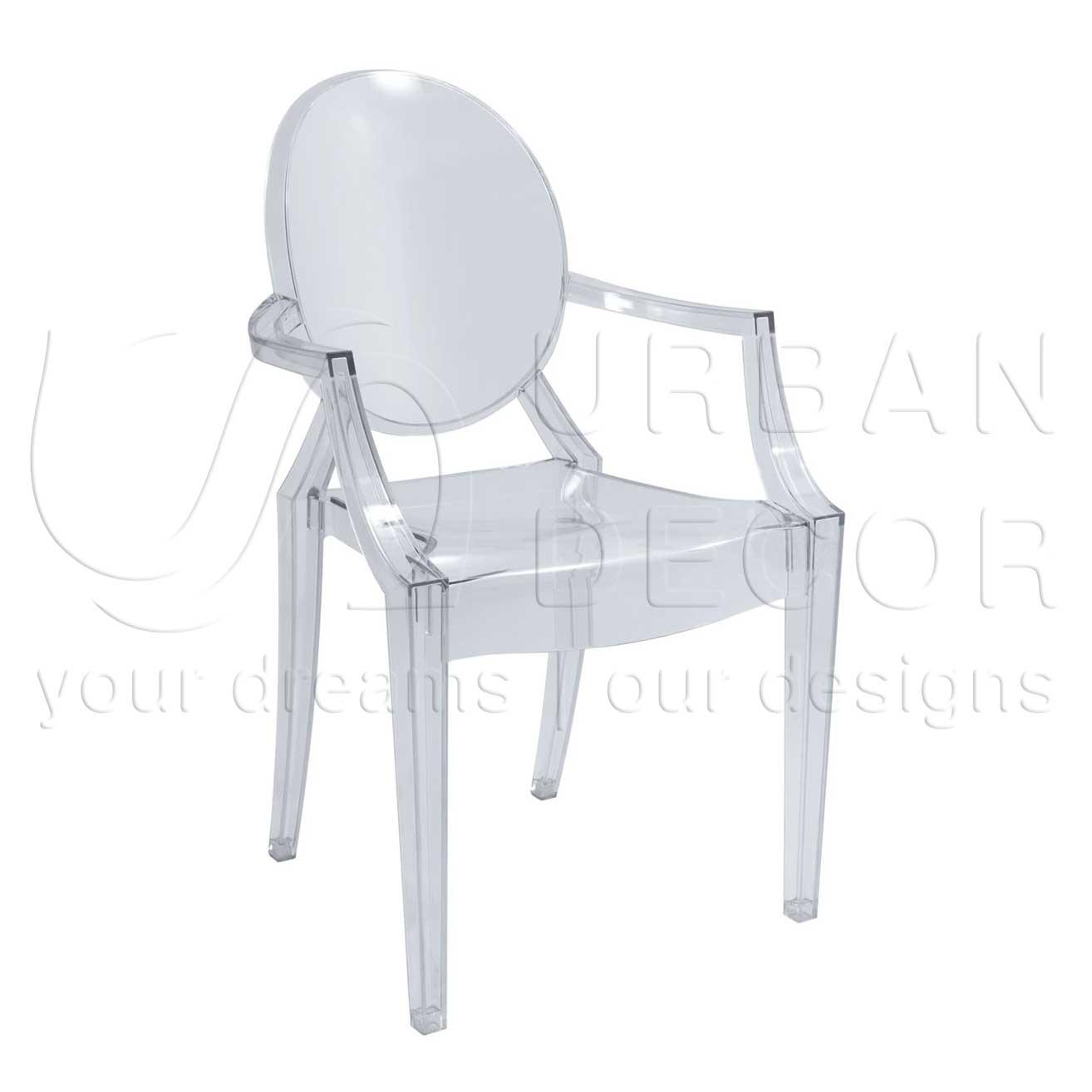 Cafeteria Chairs: Ghost Clear Polycarbonate Chair