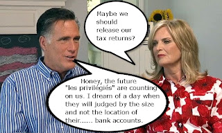 Mitt and Ann Romney discuss tax returns (comedy)