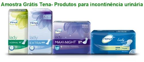 Amostra Grátis Tena- Produtos para incontinência urinária