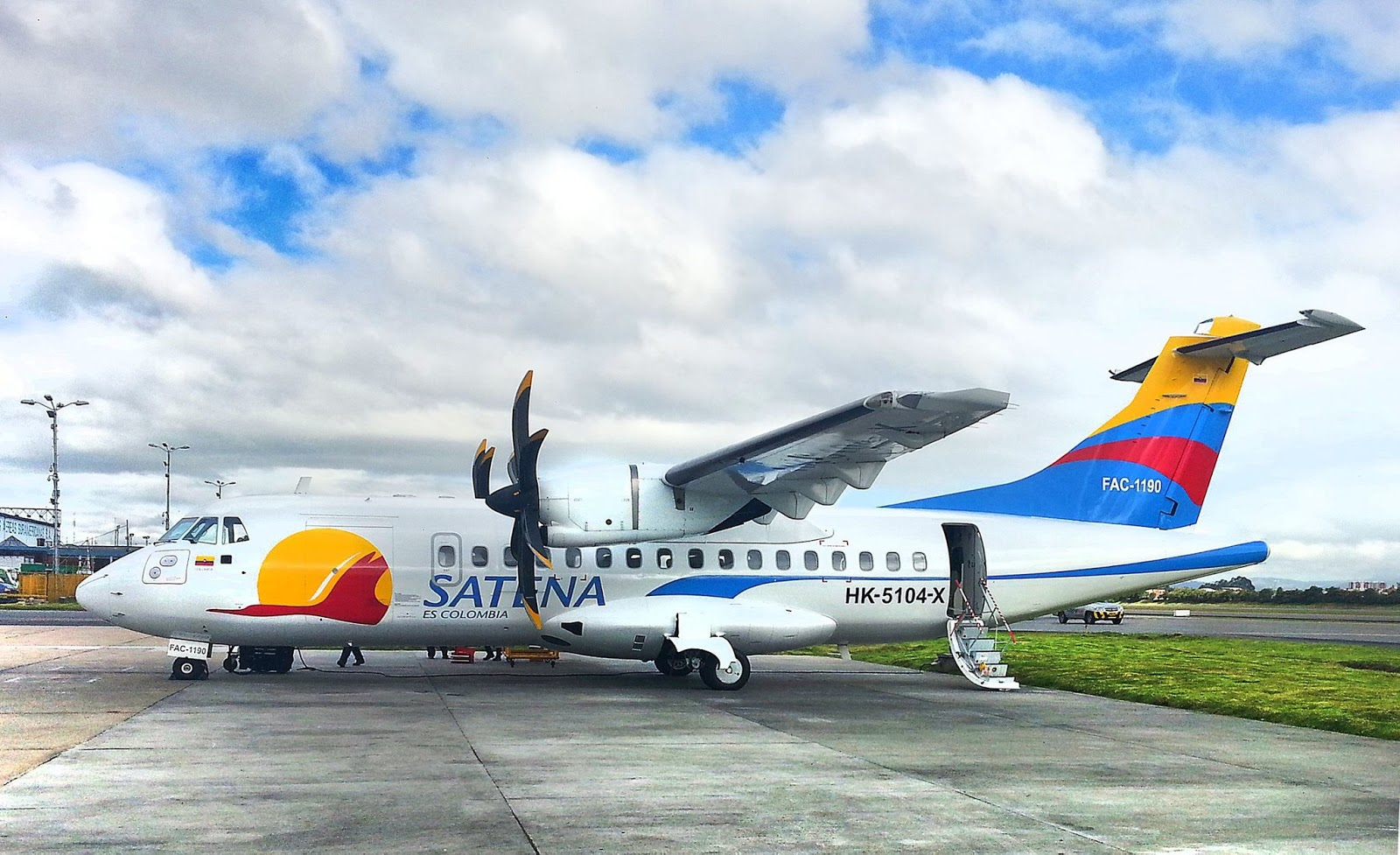 ATR 42-500 recientemente incorporado a la flota de SATENA