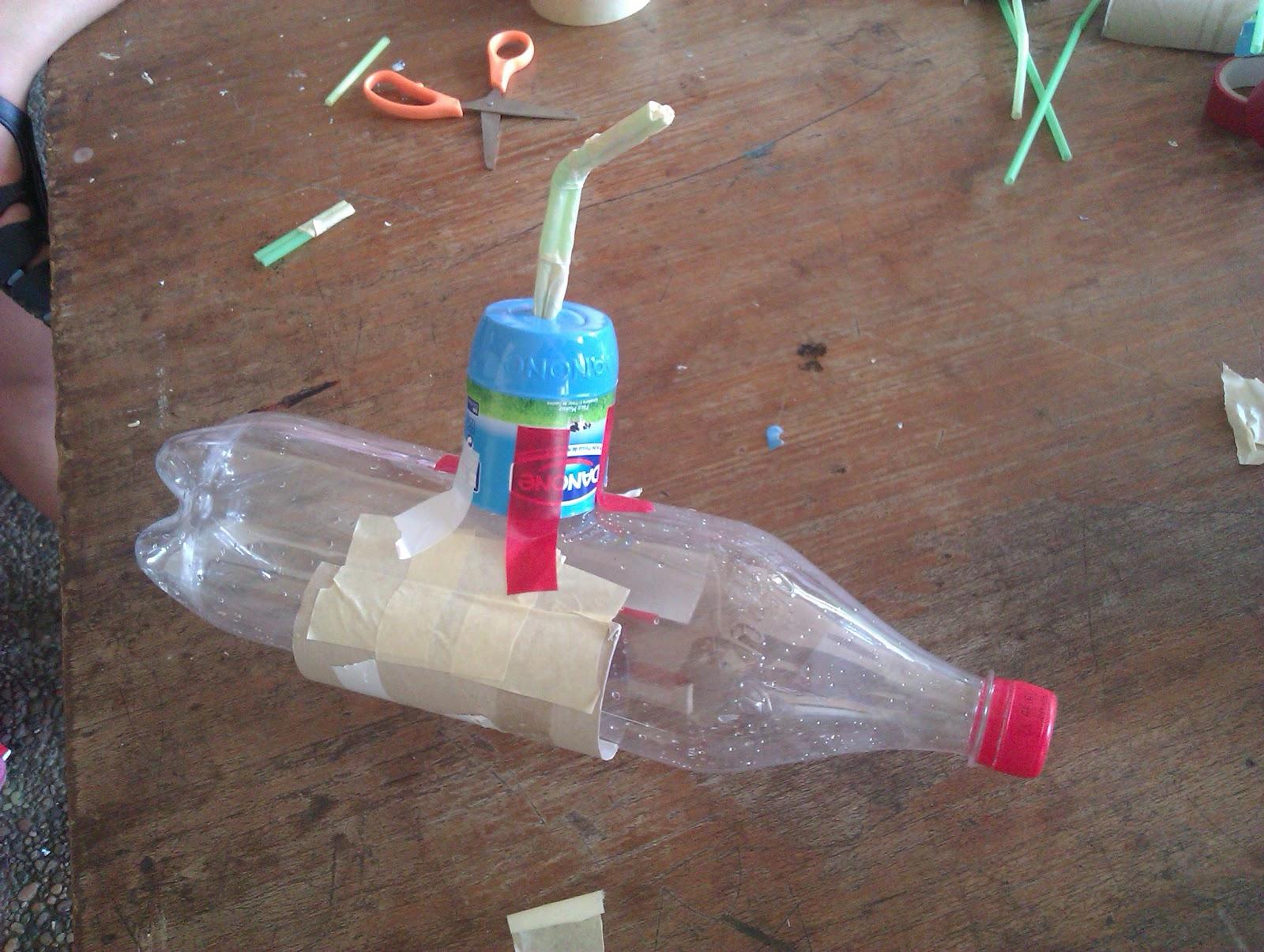 Hacer submarino con material reciclado - Cola para empapelar ...