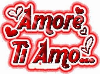 ljubavna slika: amore ti amo / volim te na italijanski