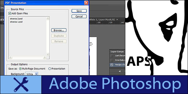 Create PDF presentation in Adobe Photoshop