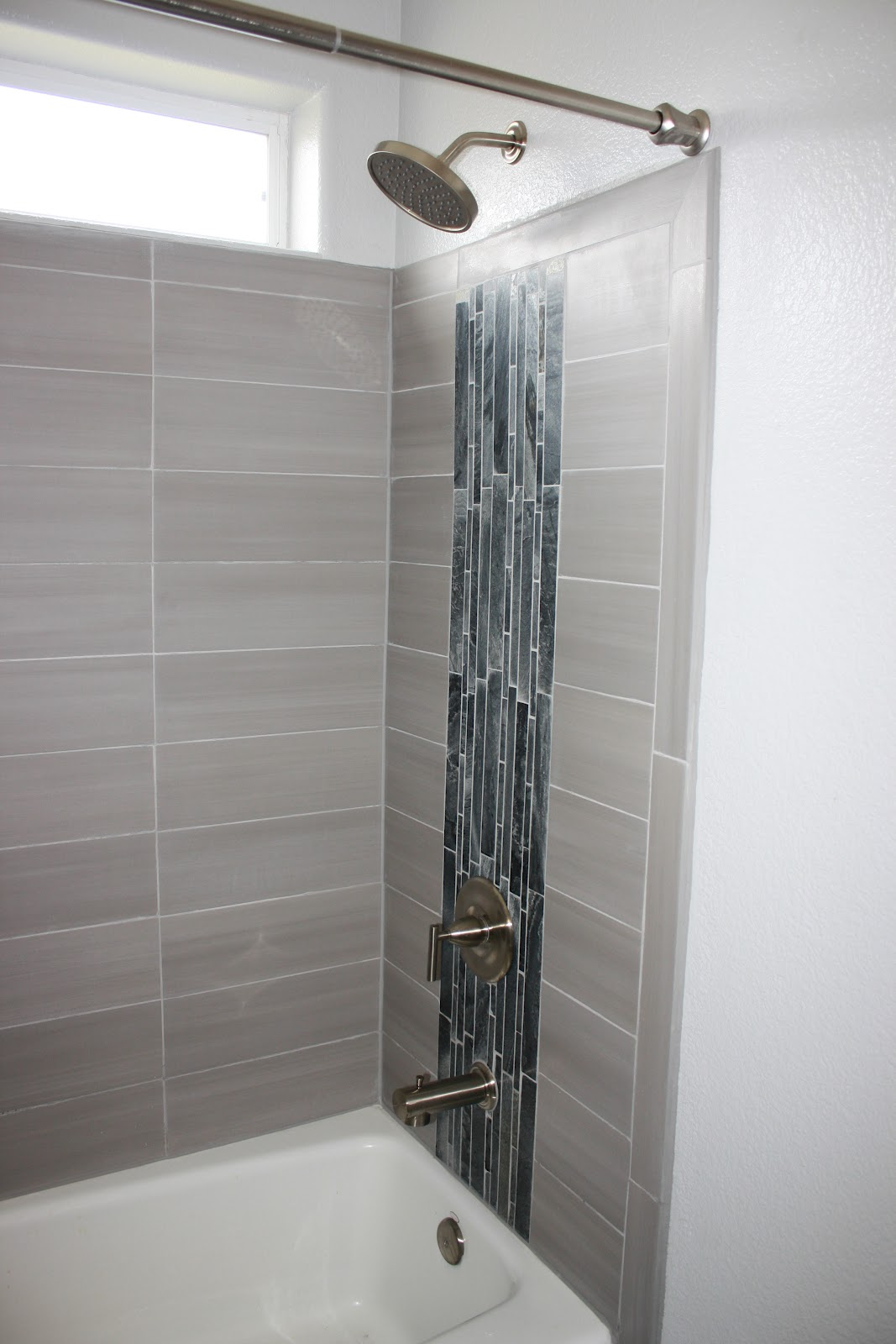 Be slightly askew completed bathroom for Bathroom ideas home depot