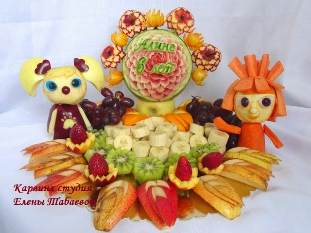 сладкий стол фиксики барбоскины
