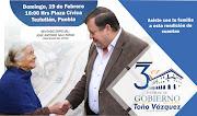 TERCER INFORME DE GOBIERNO DE TOÑO VÁZQUEZ