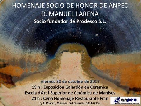 30.10.15 ANPEC HOMENAJE AL SR. LARENA - PRODESCO SL