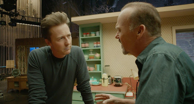 Birdman still Edward Norton Michael Keaton
