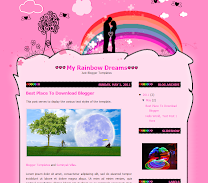 My Rainbow Dreams Blogger Theme