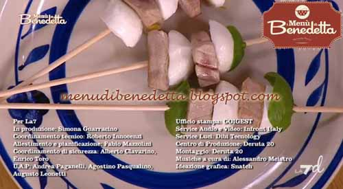 Spiedini di tonno e mozzarella ricetta parodi da i men di for Mozzarella in carrozza parodi