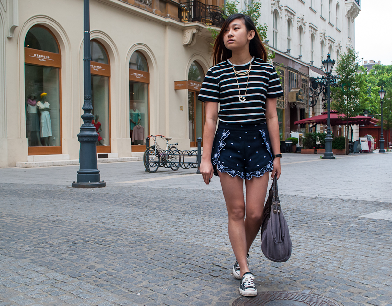 Stripes and prints OOTD summer in budapest