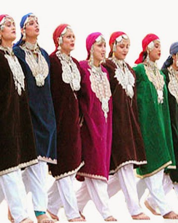 Kashmiri dance costume