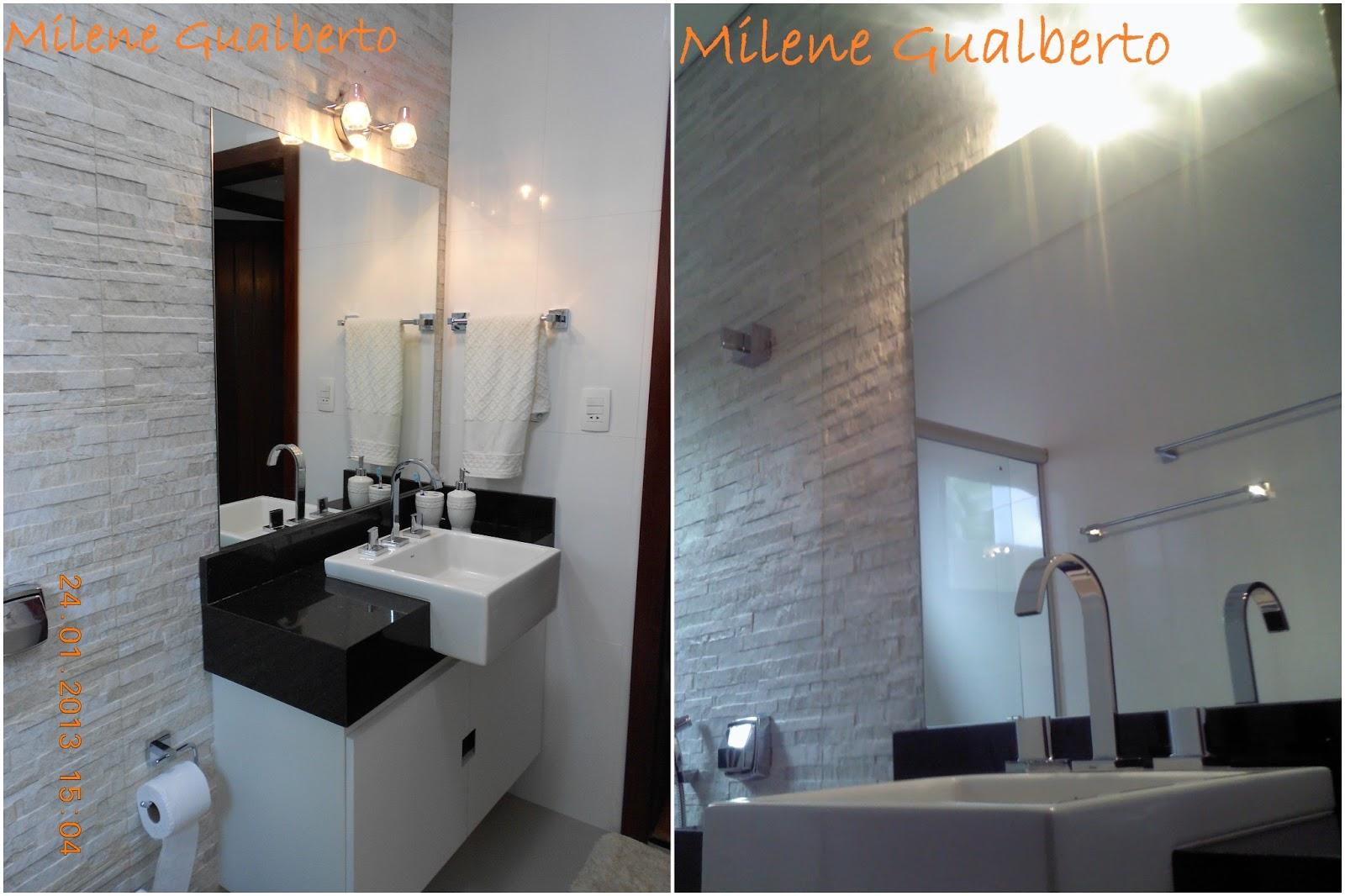 Milene Gualberto: Projetos Residênciais Banheiro Porcelanato HD #856146 1600x1066 Banheiro Com Porcelanato De Madeira
