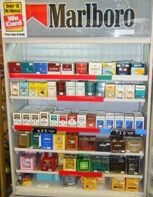 Nebraska cigarettes Marlboro labels