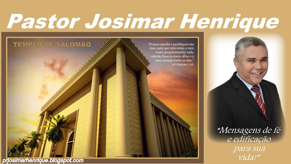 Blog do Pastor Josimar Henrique