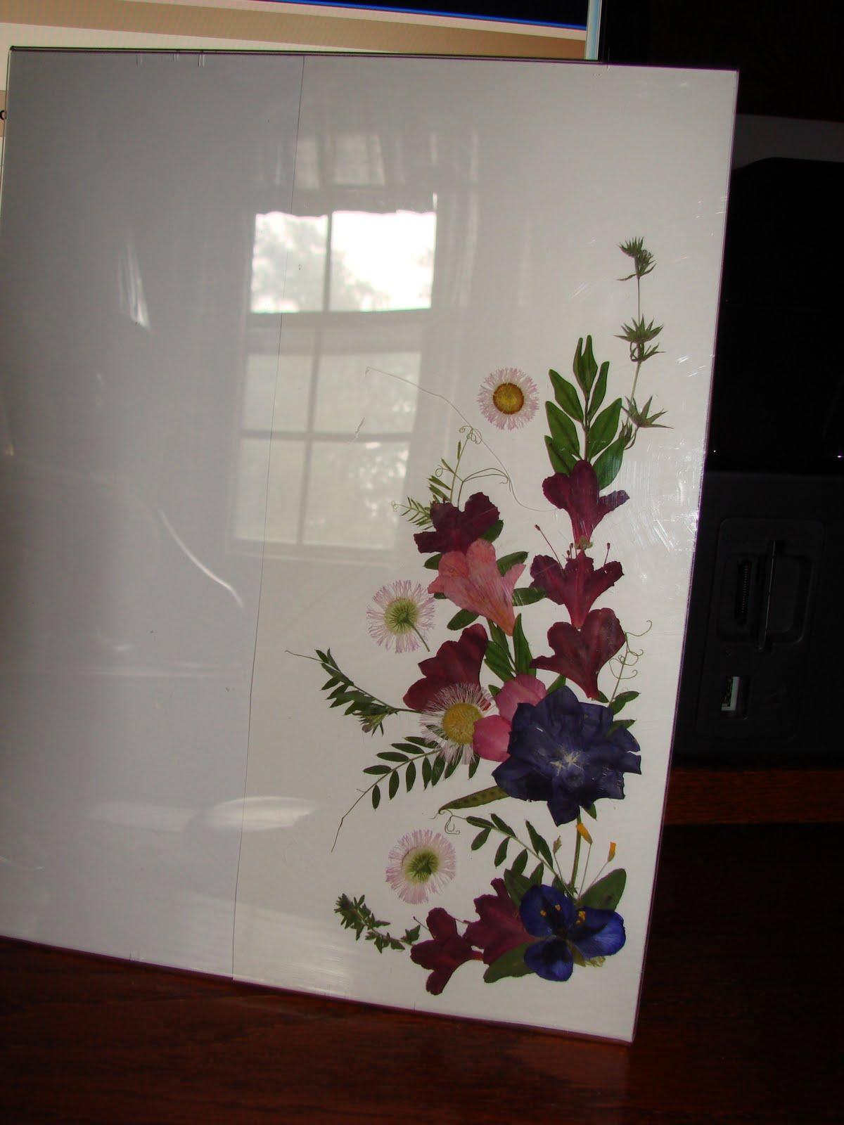 Prinked Ink Pressed Flowers