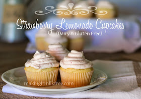 #glutenfree #dairyfree #cupcakes #strawberry #lemonade