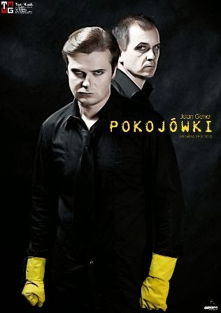 """Dariusz Szymaniak i Szymon Sędrowski w spektaklu """"Pokojówki"""", Teatr Miejski w Gdyni"""