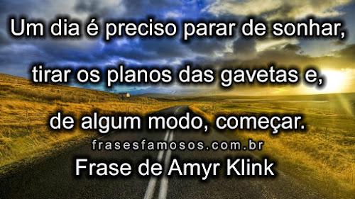 Frase de Amyr Klink