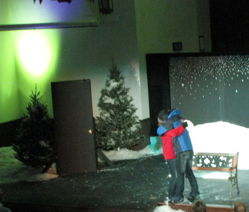 Pete and Ginette in Almost, Maine