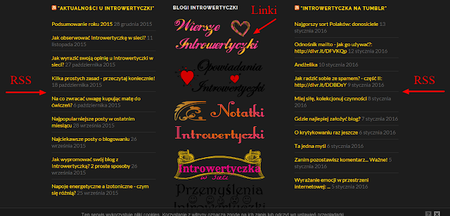 Wordpress: Widgety → RSS