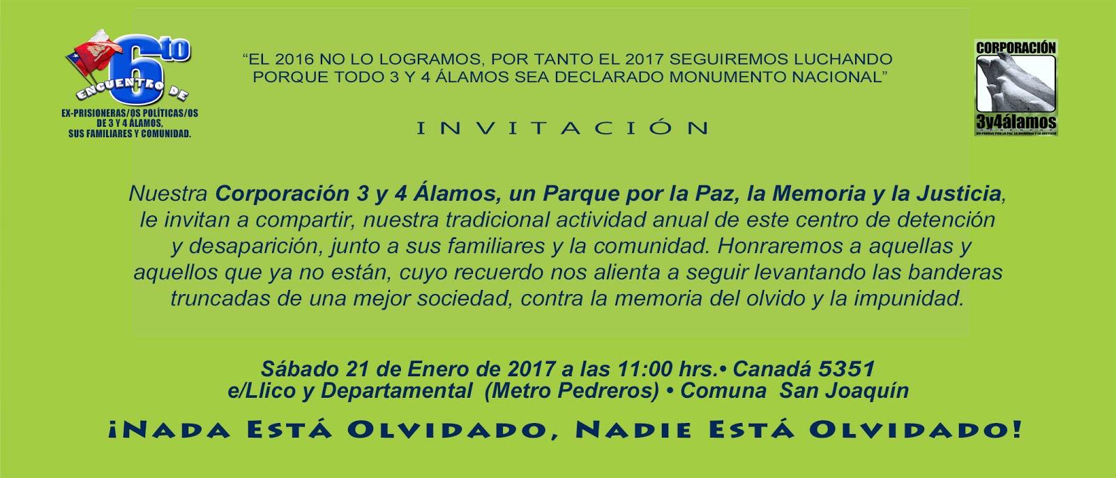 INVITACIÓN CORPORACIÓN 3 Y 4 ALAMOS