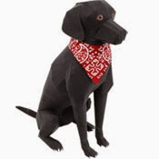 Labrador Retriever Dog Papercraft
