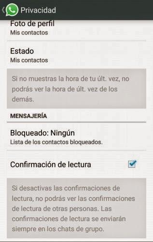Trucos para WhatsApp - Desactiva el doble check azul