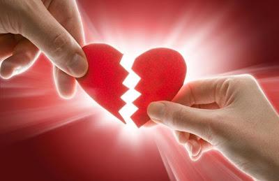 Valentine's Day - heart broken - breakup - red heart torn