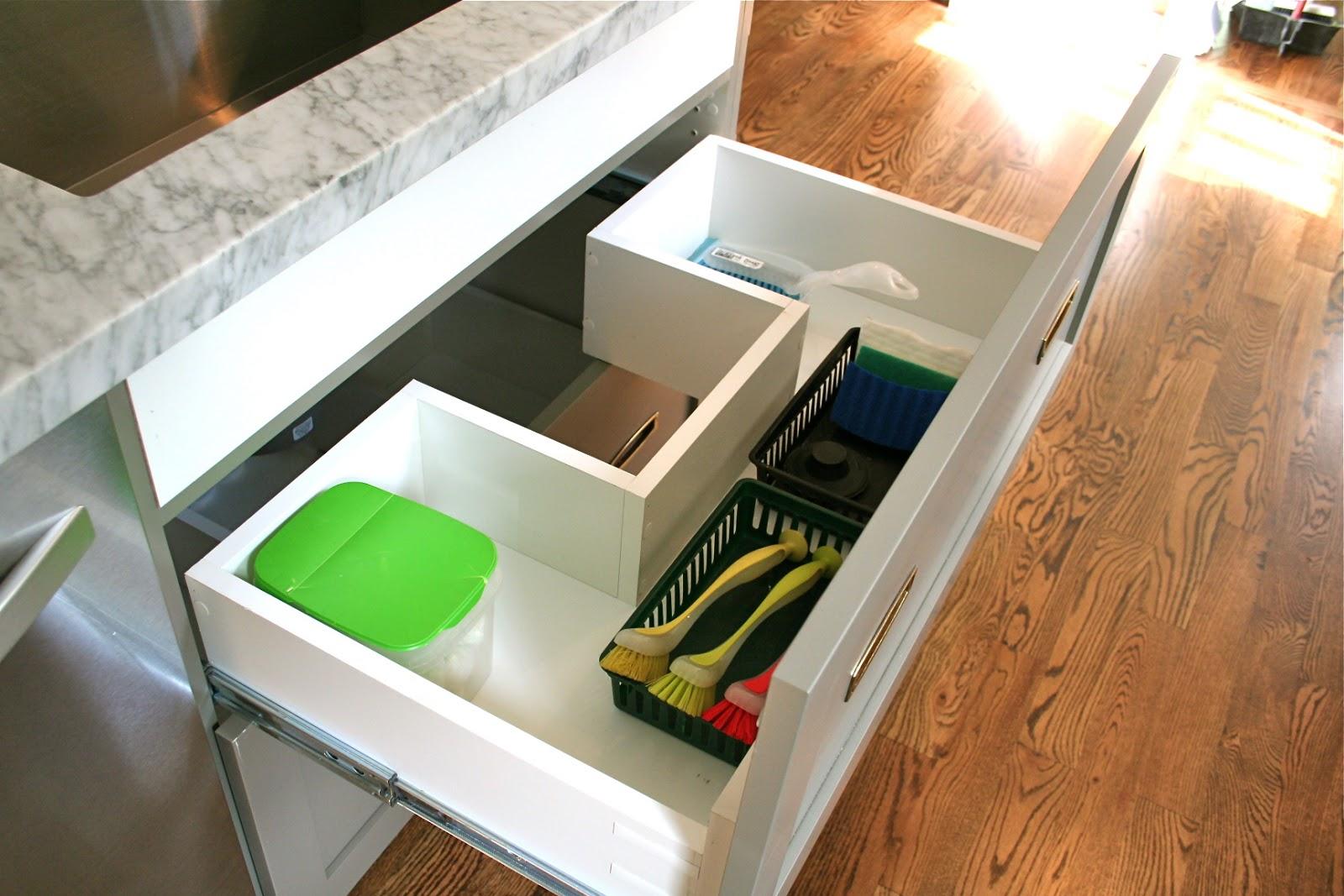 design dump: drawers under the kitchen sink