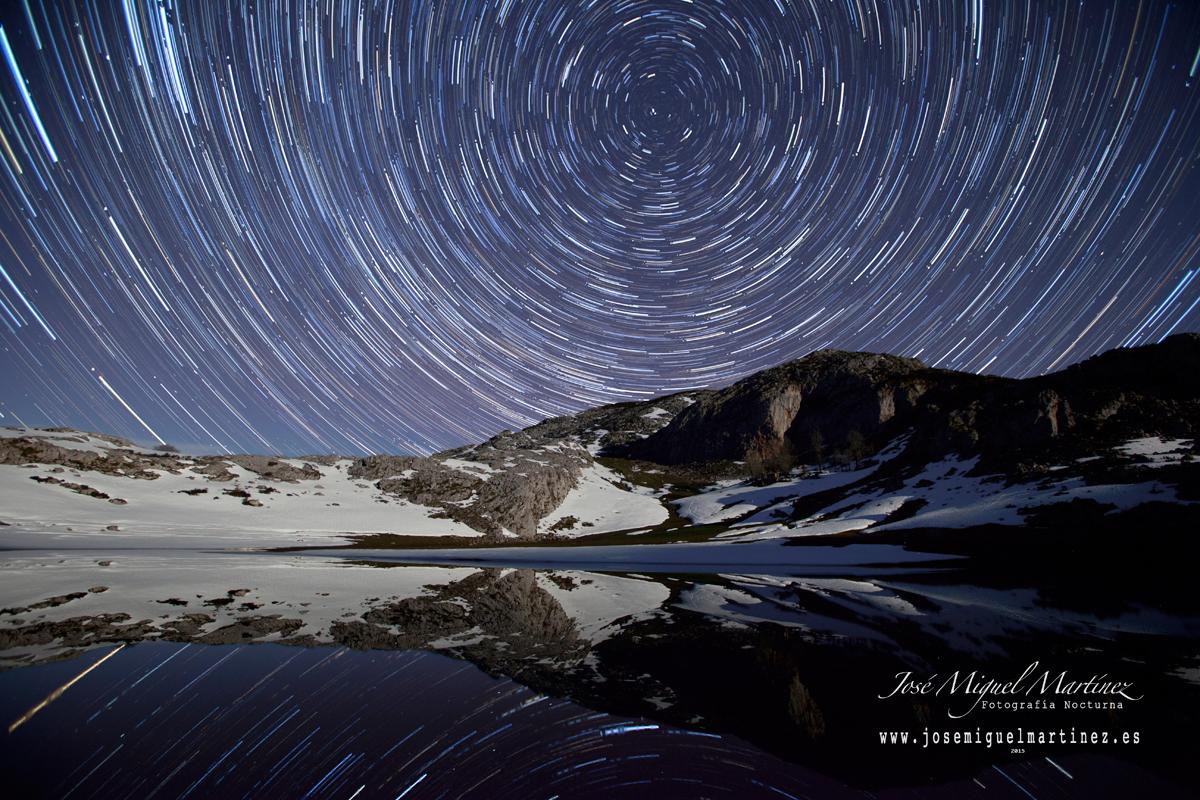 #FotografíaNocturna Lago del Bricial y Lago de la Ercina