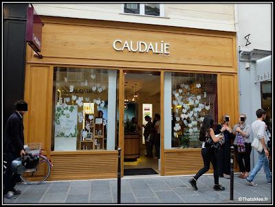 1ère boutique Caudalie beauté skincare Paris rue des franc-Bourgeois Marais France