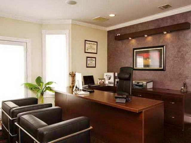 Best wall paint colors for office for Office wall interior