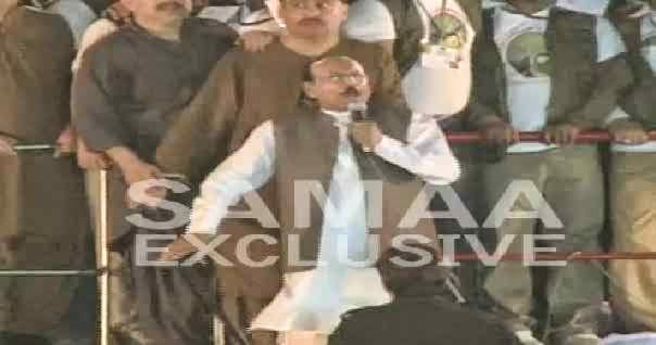 HILARIOUS AND FUNNY MOVEMENTS OF CM SYED QAIM ALI SHAH DURING HIS SPEECH IN PPP RALLY