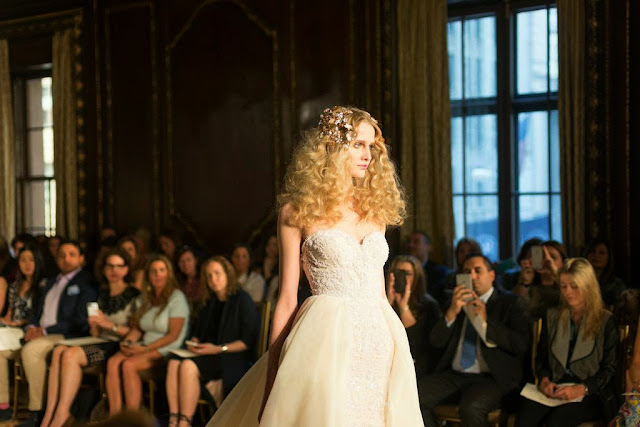 Bridal Fashion Week 2015 New York City Galia Lahav Bridal Weddings Creme Trend Lace Wedding Dress