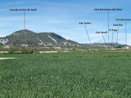Part de l'itinerari de la pujada al Turó de la Creu de Gurb des de la casa Nova del Mont-ral