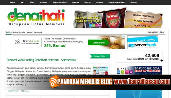 Wajah Pemilik Blog Denaihati.com
