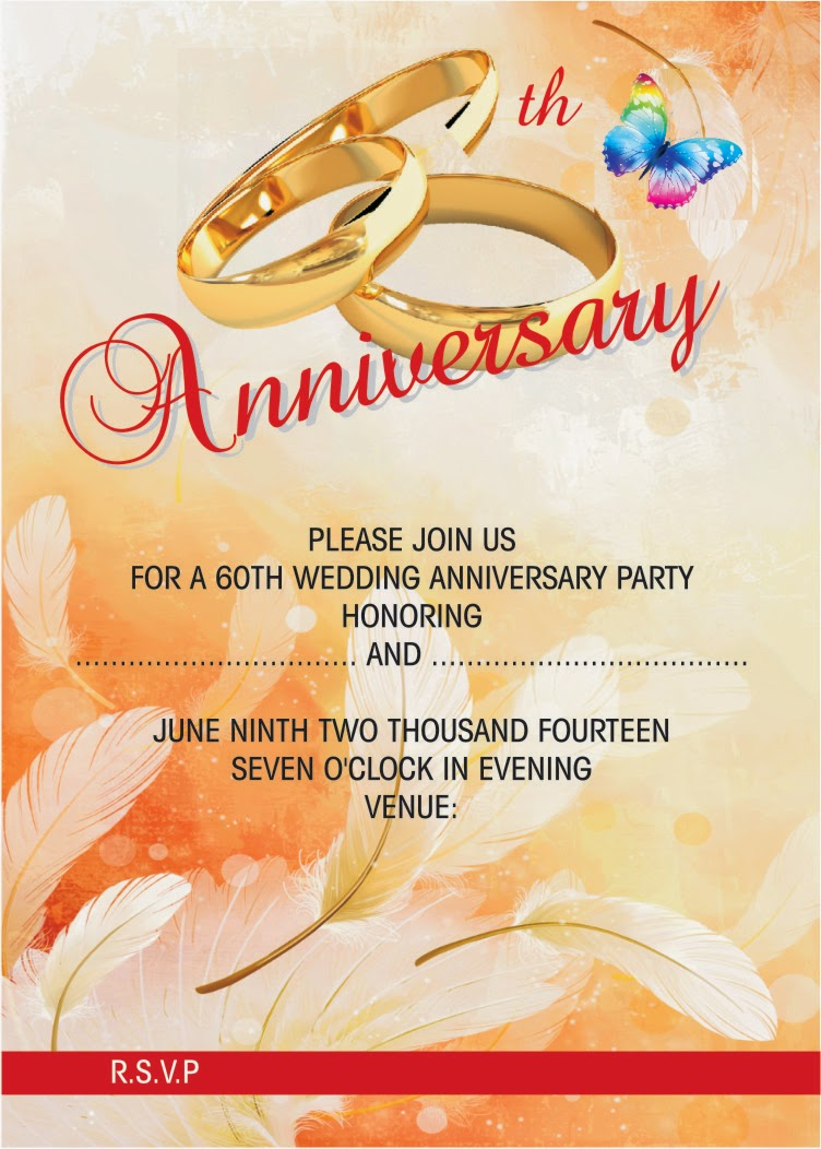 Wedding Anniversary Invitation Card Design  Print Anniversary Card