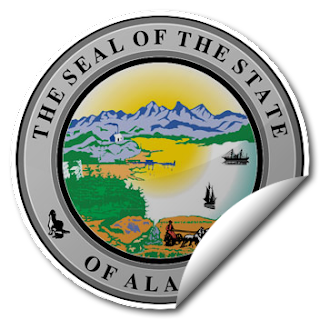 Sticker of Alaska Seal
