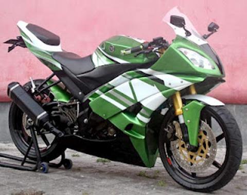 Gambar Modifikasi Motor Yamaha Vixion New Terbaru Hijau