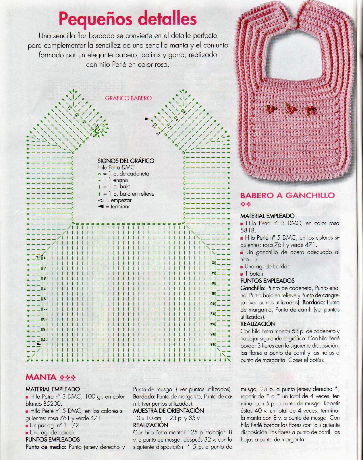 los gráficos del gato: BABEROS DE GANCHILLO