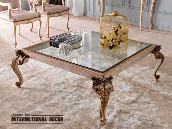 royal coffee table, classic coffee table