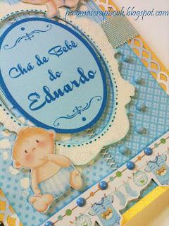 caderno de assinaturas scrapbook, chá de bebe,caderno de assinaturas personalizado