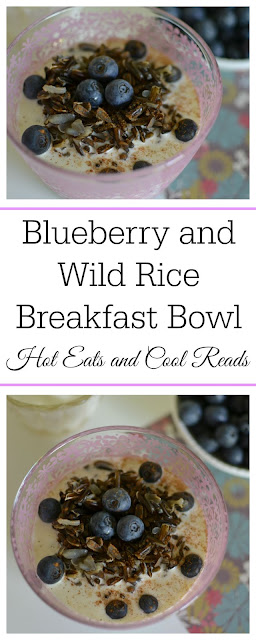 A delicious breakfast bowl with juicy blueberries and Minnesota grown wild rice! The perfect start to any morning! Blueberry and Wild Rice Breakfast Bowl Recipe from Hot Eats and Cool Reads!
