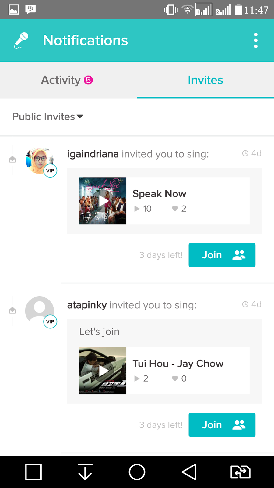 Guide karaoke smule in the picture above is an example of public invites we do not need to be so bothered if we got invites public notification of this because the invitation stopboris Images